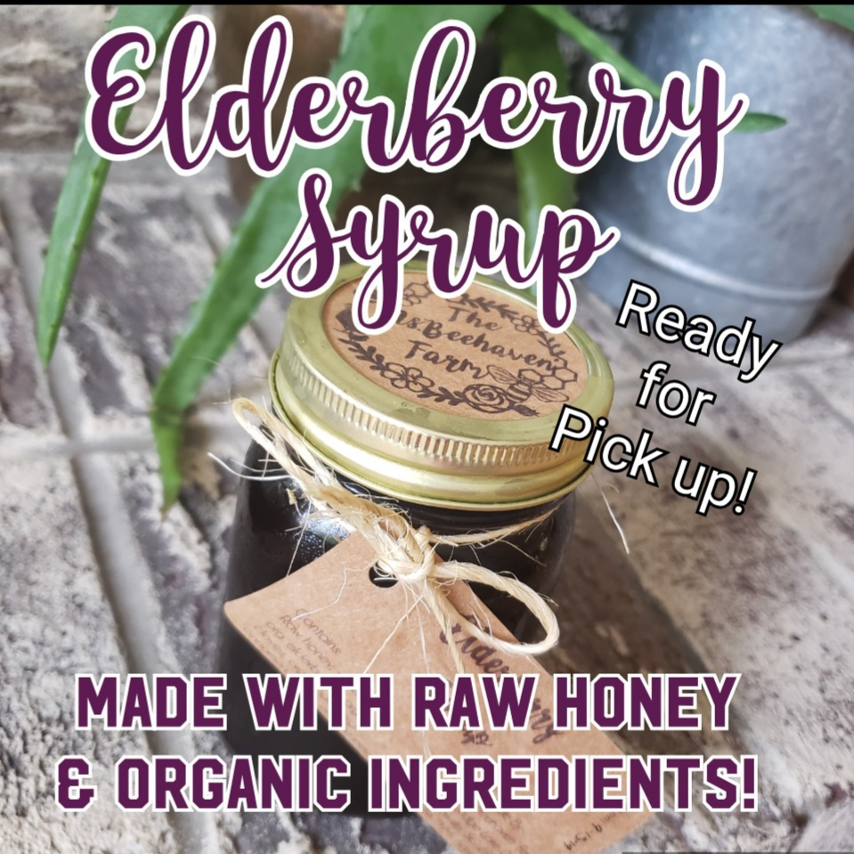 Made with only THE BEST INGREDIENTS, Including: OUR [Award Winning] RAW honey (From OUR Organically managed hives), Organic Elderberries , Distilled water, Organic spices; Clove, Ginger, Orange peel and cinnamon !